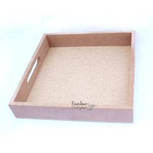 MDF Tray - Square  - 8x8x1.5inches - 1/Pkg