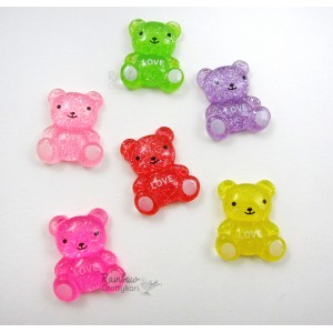 Resin Embellishment - Flatback Cabochon - Gummy Bears - Mix Pack - 2.0cmx1.7cm - 5Pcs