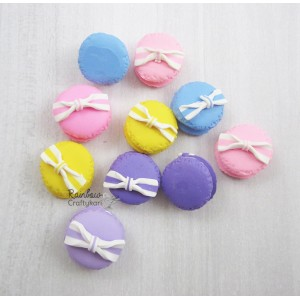 Resin Embellishment - Macaroons - Mix Pack - 2.4cm - 2Pcs