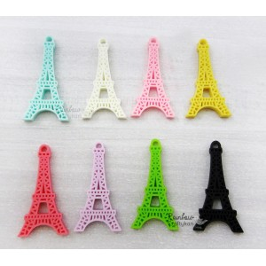 Resin Embellishment - Flatback Cabochon -  Eiffel Tower - Mix Pack - 4.5cm - 5Pcs