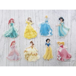 Resin Embellishment - Flatback Acrylic - Cartoon Princesses - Mix Pack - 8Pcs