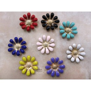 Metal Accessories - Flatback - Anemone Flower - 1.8cm - Mix Pack - 4Pcs