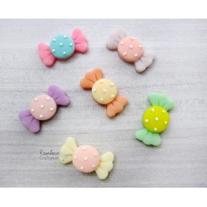 Resin Embellishment - Flatback Cabochon - Sweets/Toffee - Mix Pack - 3.1cmx1.5cm - 4Pcs
