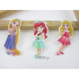Resin Embellishment - Flatback Acrylic - Kawaii Cartoon Angel Princesses - Mix Pack - 6Pcs