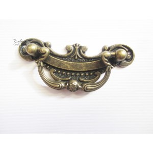 Metal Charm - Engraved Bronze Drawer Pull/Handle - 5 Inch - 1/Pkg