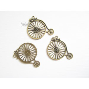 Metal Charm - Bronze Bicycle - 2 inch - 1/Pkg