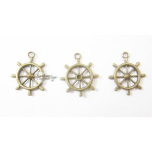 Metal Charm - Bronze Anchor - 2/Pkg