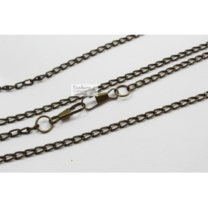 Metal Charm - Bronze Chain - 23.5 inches - 1 pc