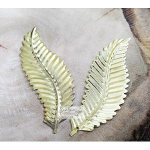 Metal Charm - Brass Net Leaf - 12cm - 1Pc