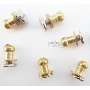 Bronze Knobs W/ Silver Screw-head - 2pcs - 8mm