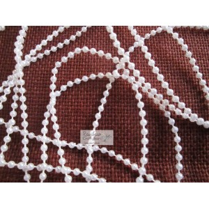 Pearl Thread String - Pearl Ivory White- Small Pearls - 2/yd