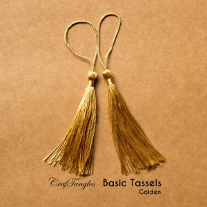 CrafTangles - Basic Tassels - Golden (Pack of 5)
