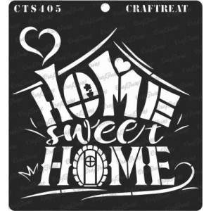 "CrafTreat Stencil - Home Sweet Home2 - 6""x6"""
