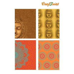 CrafTreat Decoupage Paper - Ethnic India 3 - 4 Sheets