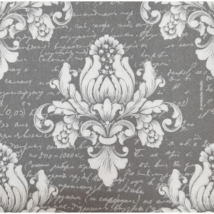 "Deco Napkin  13""x13"" - Scripted Damask - 1Pc"