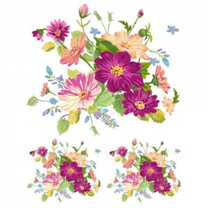 Dress My Craft - Flower Cluster - Fabric Transfer Sheet