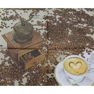 "Deco Napkin  13""x13"" - Coffee Beans - 1Pc"
