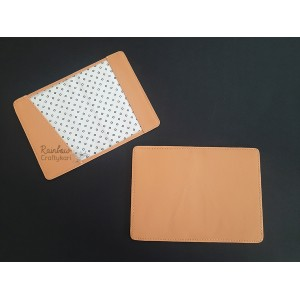 Faux Leather - Passport Sleeves - Biege - 13.5cm x 19cm - 1/Pkg