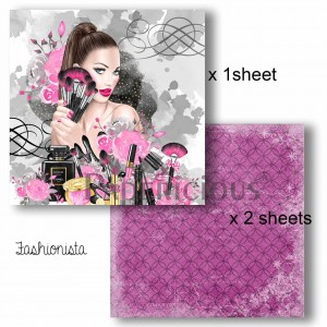 Papericious - Decoupage Papers - Fashionista - 8x8 inch