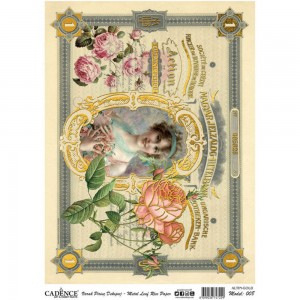 Cadence - Victorian Queen - Metal Rice Decoupage Paper