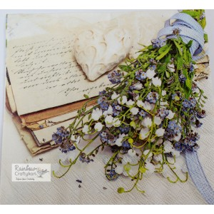 "Deco Napkin  13""x13"" - Buckwheat Bridal Bouquet - 1Pc"
