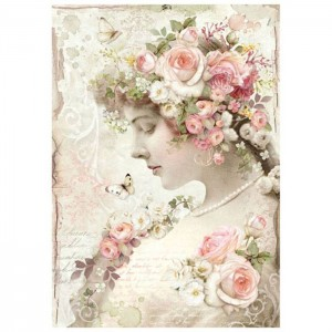 Stamperia - A4 Rice Paper - Floral Profile Roses