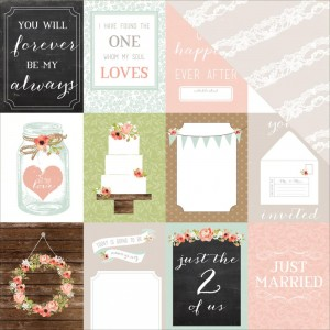 Carta Bella - Rustic Elegance Collection - 12 x 12 Double Sided Paper - 3 x 4 Journaling Cards - Two Sheets