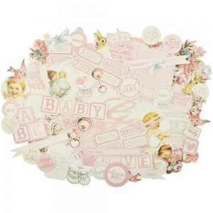 KaiserCraft - Peek-A-Boo Collectables Cardstock Die-Cuts - Girl
