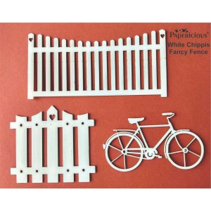 Papericious - Fancy Fence - White Chippis