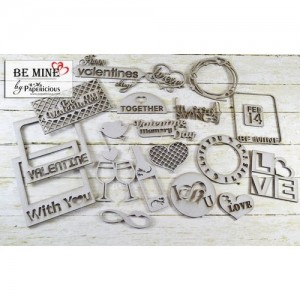 Papericious - Theme Chipboard - Be Mine