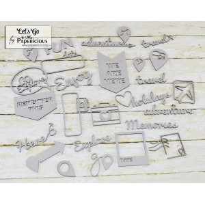 Papericious - Theme Chipboard - Let's Go