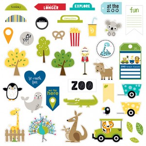 Bella Blvd - The Zoo Crew Collection - Die Cut Cardstock Pieces