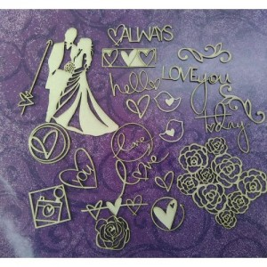 Papericious - Theme Chipboard - The Wedding