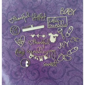 Papericious - Theme Chipboard - Ohh Baby!