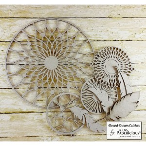 Papericious - Chipboard - DIY DREAMCATCHER KIT - Round Dream Catcher
