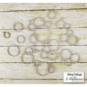 Papericious - Chipboard - Rings Collage