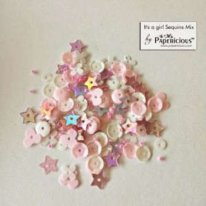 Papericious Sequins Mixes - It's a Girl - 10g