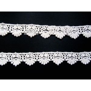Craft Cotton Lace - Paisley and Petals - 1 inch - 1mtr - Off-White