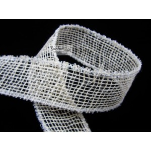 Natural Mesh Wired Ribbon - 2 in - 1/yd