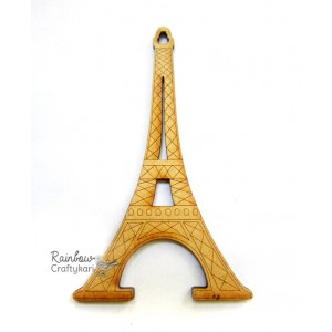MDF Cutout - Eiffel Tower - 1Pc - 3.5in