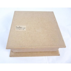 MDF Square Box with Top Cover - 6x6x2.5 in - 1/Pkg
