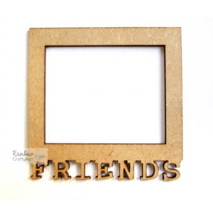 MDF Cutout - Friends Frame - 7.25cm x 7.25cm - 1Pc