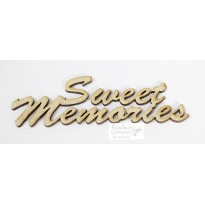 MDF Cutout - Sweet Memories - 10cmx3cm - 2Pcs