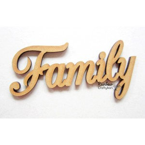 MDF Cutout - Family - 9.5cmx4cm - 1Pc