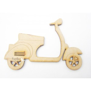 MDF Cutout - Scooter - 9.5cmx7cm - 1 pc