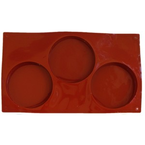 Silicone Mould - Three Cavity Resin Mould - 11.6 x 6.7 inches - 1/Pkg