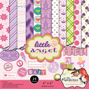 Papericious Designer Edition 6 x 6 Paper Pad - Little Angel