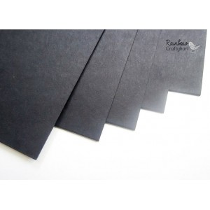 Cardstock - 12x12 in - Black - 250gsm - 5/Pkg