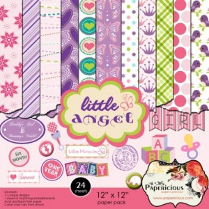 Papericious 12x12 Paper Pack - Little Angel