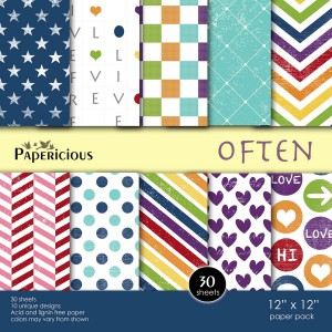 Papericious 12x12 Paper Pack - Often